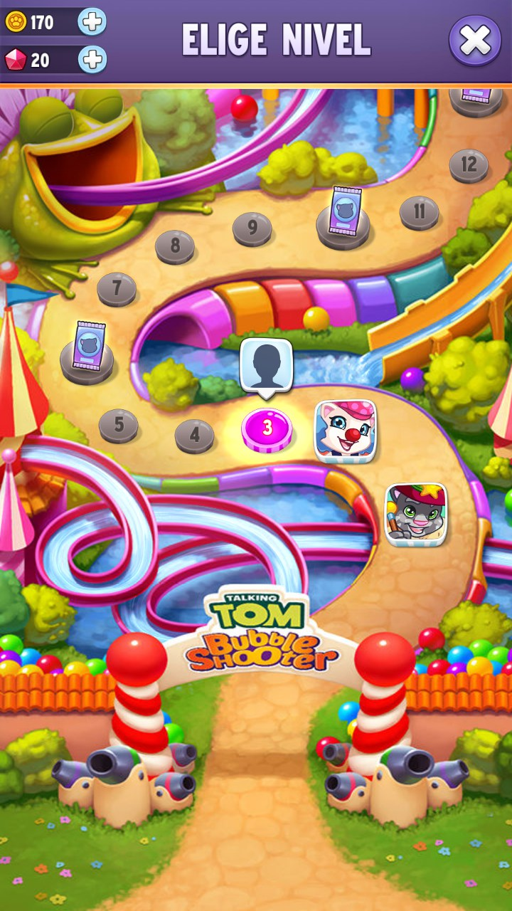 Talking Tom Bubble Shooter Juegos Para Android 2018 Descarga