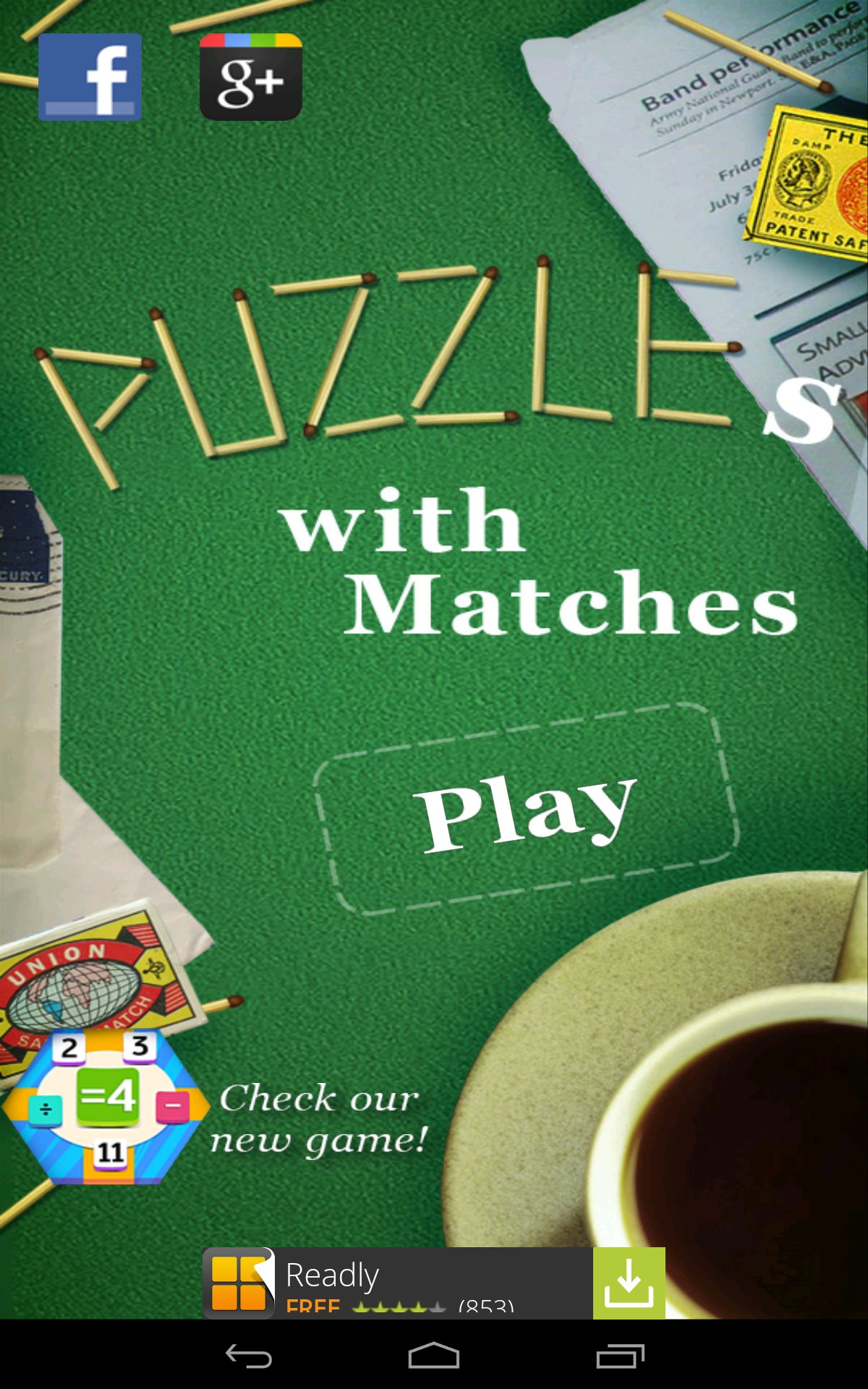 Play With Patterns Prints And Lots Of Accessories For: Puzzle With Matches