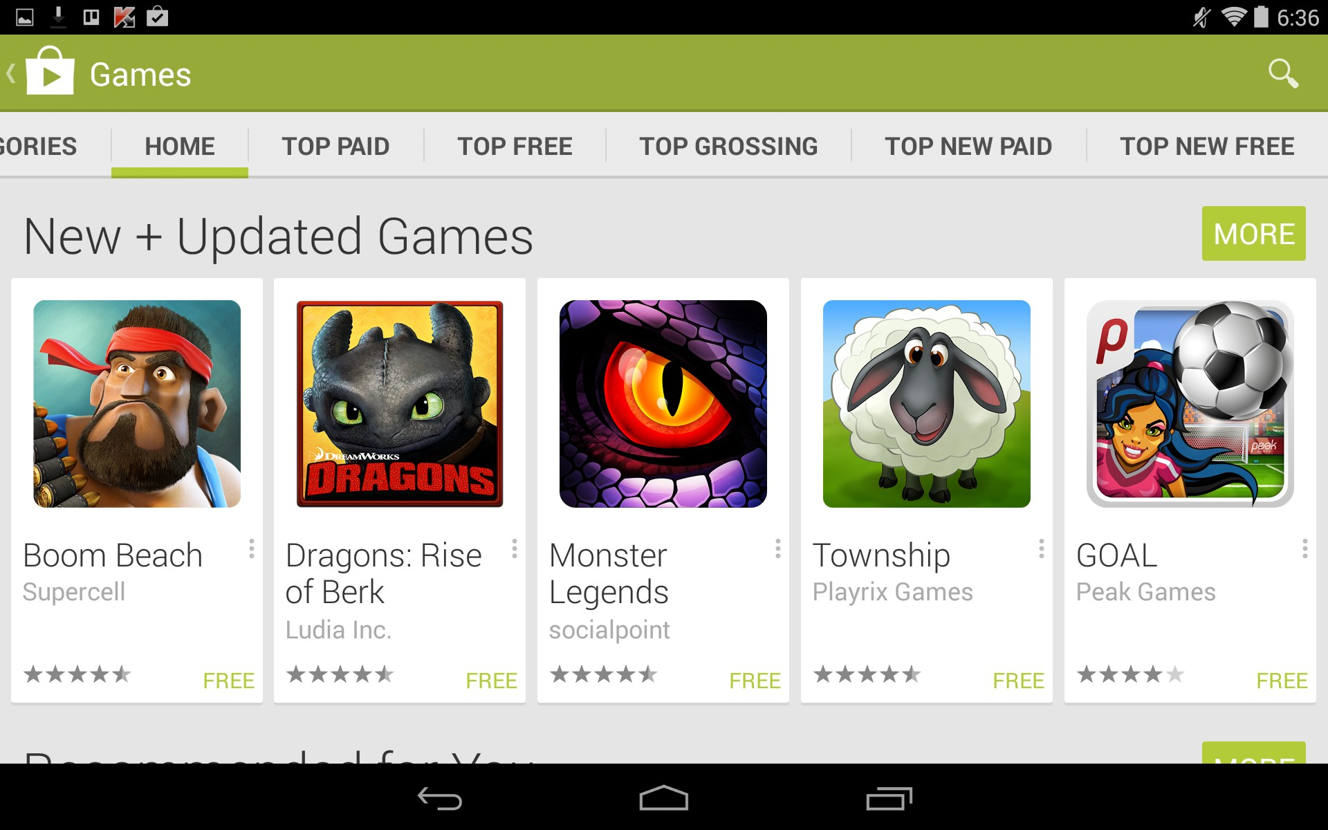 games software for android