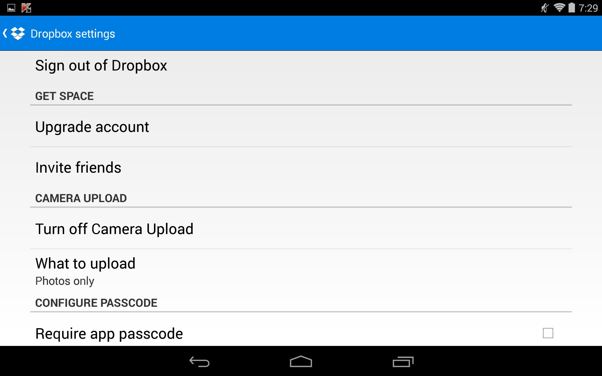 how to create a shareable link on dropbox for andriod