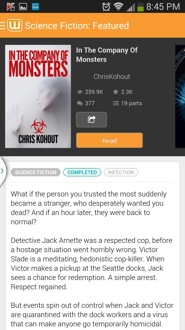 Wattpad for Huawei Ascend Y220 2018 – Free download soft for Android