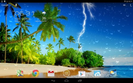 Weather Screen do Fly Flylife Connect 7.85