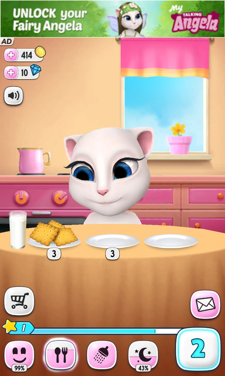 How to download talking angela with chat link is in description.