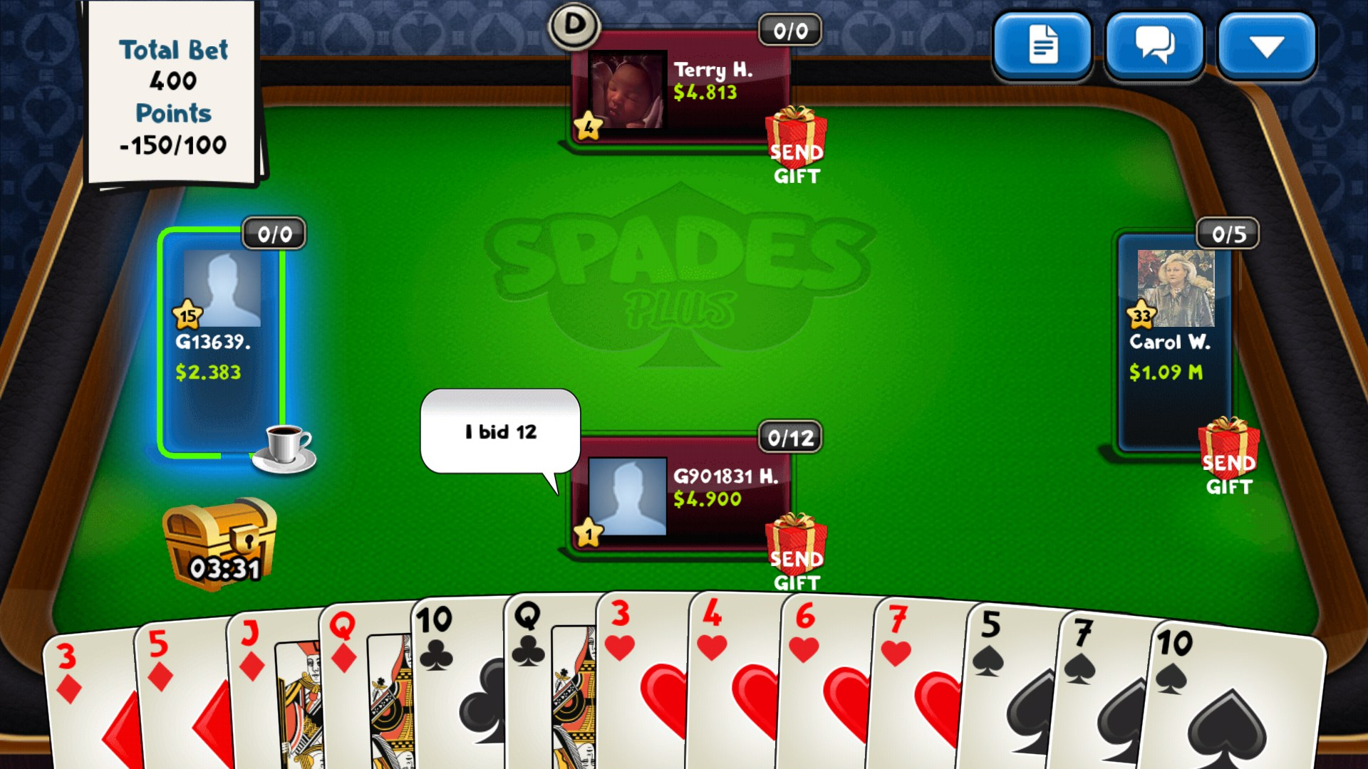 Spades Plus for Barnes & Nooble NOOK Tablet 2018 – Free