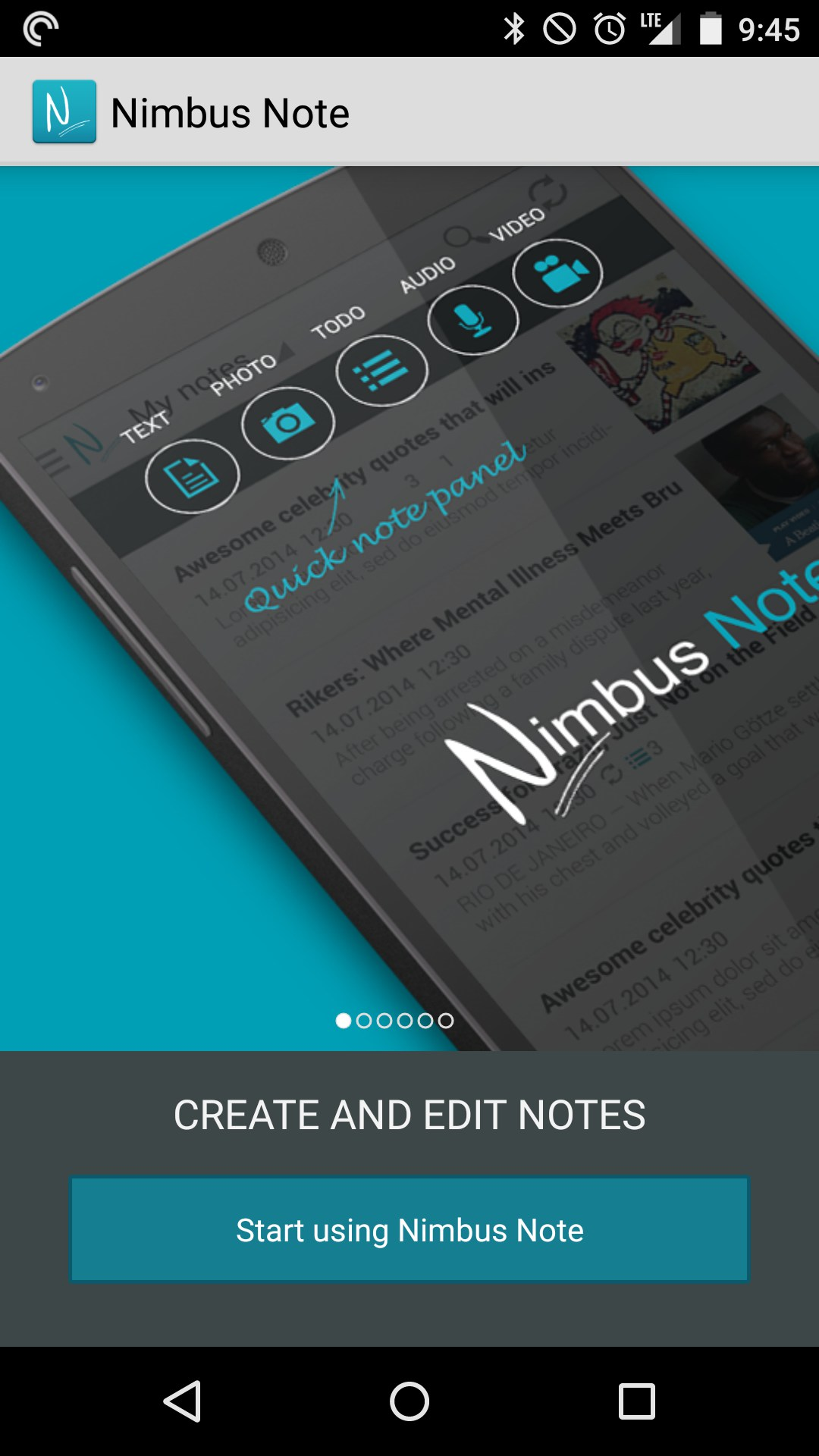 Nimbus Note - Useful notepad for Amazon Kindle Fire 2018