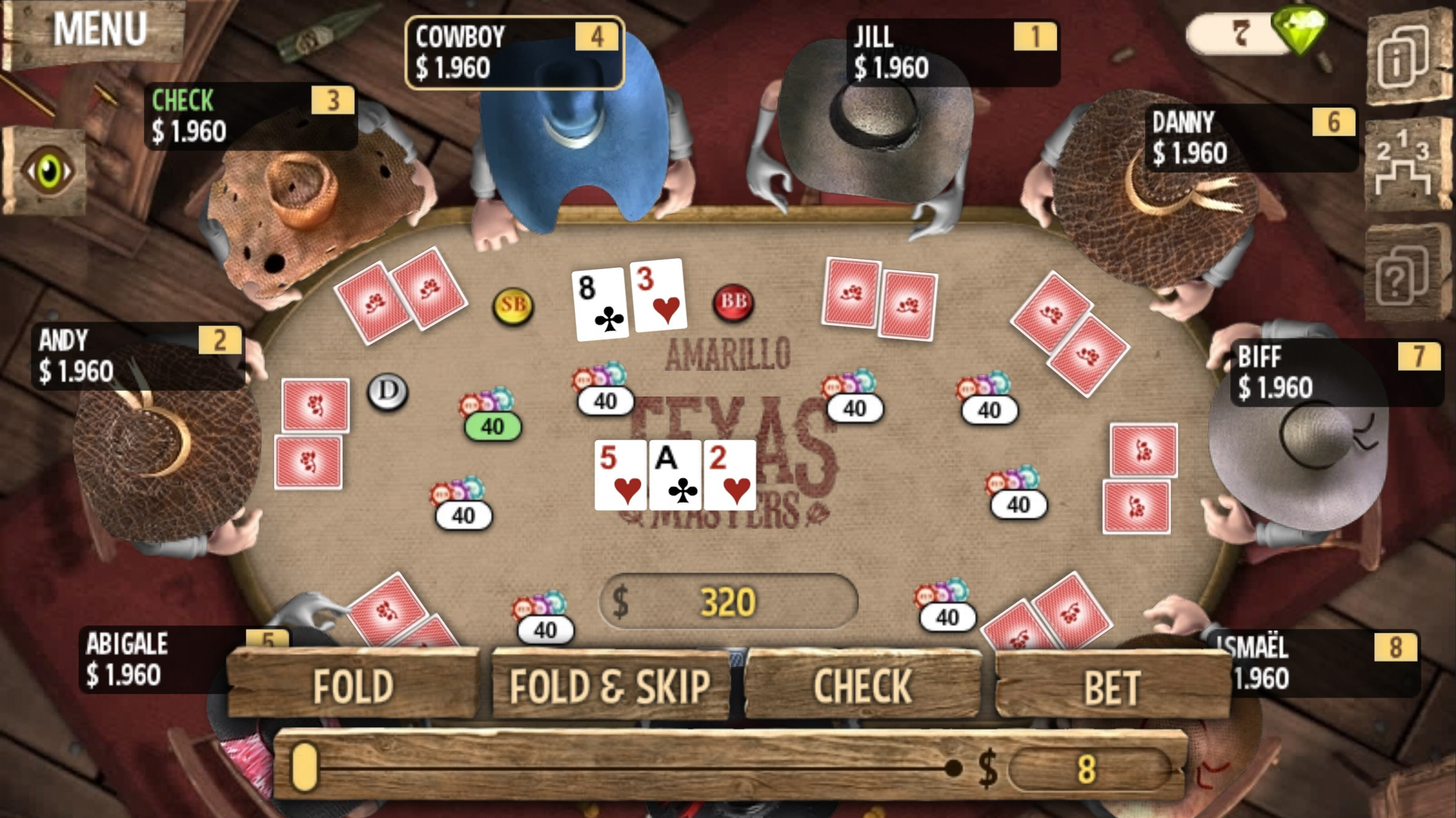 Play poker in the Wild West