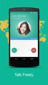 Talkray - Free Calls & Texts para Samsung S5670 Galaxy Fit