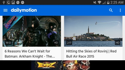 dailymotion para Sony Ericsson Xperia X10 mini pro